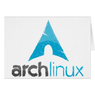 Logotipo de Linux del arco Tarjetas