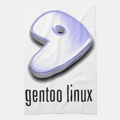 logotipo de Linux del gentoo Toalla