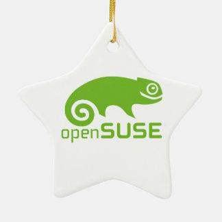 logotipo de Linux del openSuzie Adorno Navideño De Cerámica En Forma De Estrella