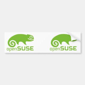 logotipo de Linux del openSuzie Etiqueta De Parachoque
