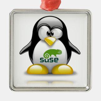 logotipo de Linux del openSuzie Adorno De Navidad