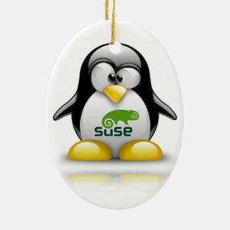 logotipo de Linux del openSuzie Adornos De Navidad