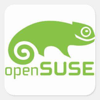logotipo de Linux del openSuzie Pegatina Cuadrada