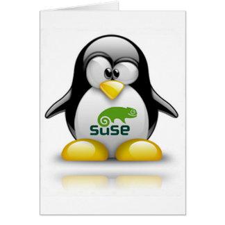 logotipo de Linux del openSuzie Tarjeton