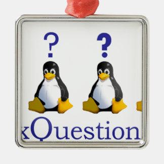 logotipo de LinuxQuestions.org Adorno Navideño Cuadrado De Metal
