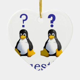 logotipo de LinuxQuestions.org Adorno Navideño De Cerámica En Forma De Corazón
