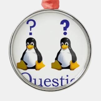 logotipo de LinuxQuestions.org Adorno Navideño Redondo De Metal