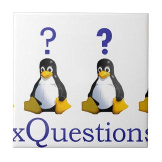 logotipo de LinuxQuestions.org Azulejo Cuadrado Pequeño