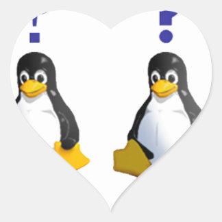 logotipo de LinuxQuestions.org Pegatina En Forma De Corazón
