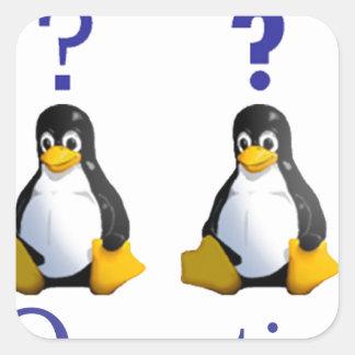logotipo de LinuxQuestions.org Pegatina Cuadrada