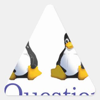 logotipo de LinuxQuestions.org Pegatina Triangular