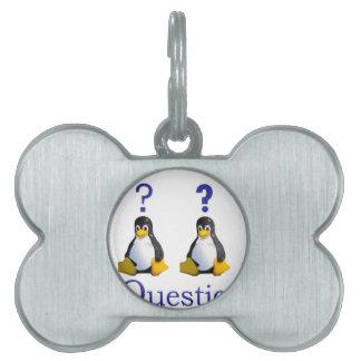 logotipo de LinuxQuestions.org Placa De Nombre De Mascota