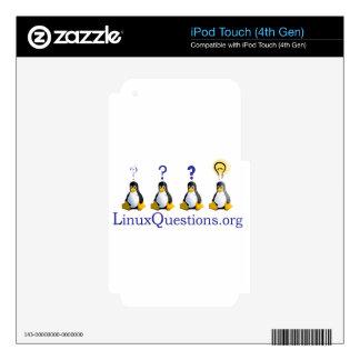logotipo de LinuxQuestions.org iPod Touch 4G Calcomanías