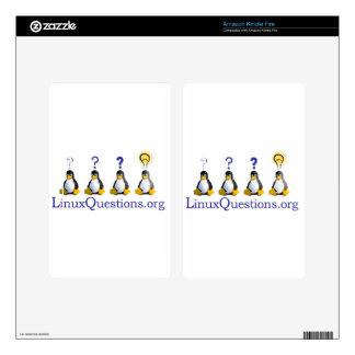 logotipo de LinuxQuestions.org Pegatina Skin Para Kindle Fire