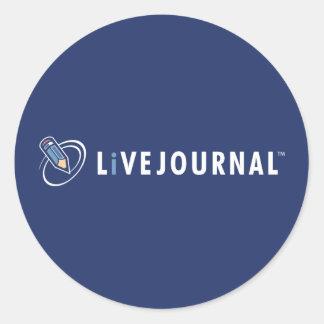 Logotipo de LiveJournal horizontal Pegatina Redonda