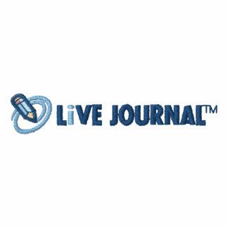 Logotipo de LiveJournal horizontal Sudadera Bordada Con Cremallera