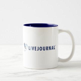 Logotipo de LiveJournal horizontal Taza Dos Tonos