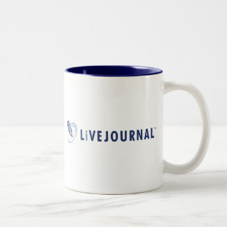 Logotipo de LiveJournal horizontal Taza De Dos Tonos