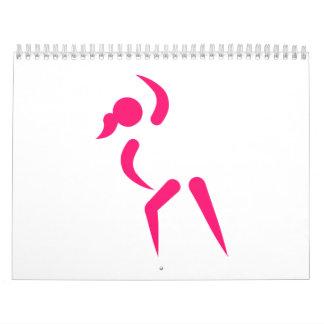 Logotipo de los aeróbicos calendarios