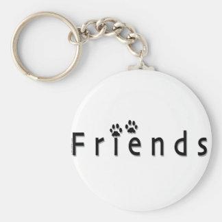 Logotipo de los amigos llavero redondo tipo pin