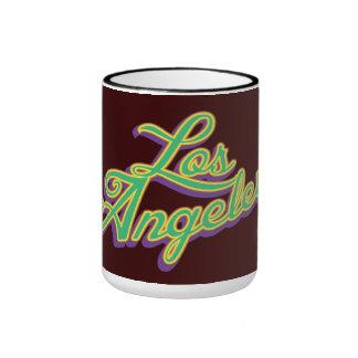 Logotipo de Los Ángeles del vintage Taza De Dos Colores
