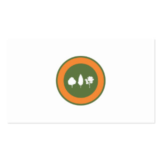 Logotipo de los árboles tarjetas de visita