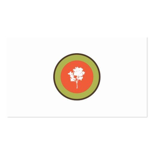 Logotipo de los árboles tarjeta de negocio