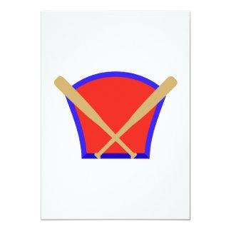 """Logotipo de los bates de béisbol invitación 5"""" x 7"""""""