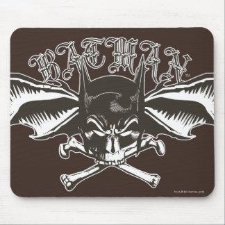Logotipo de los Batwings de la capucha del cráneo  Tapete De Ratón