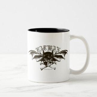 Logotipo de los Batwings de la capucha del cráneo  Tazas De Café