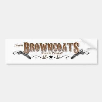 logotipo de los browmcoats pegatina para auto
