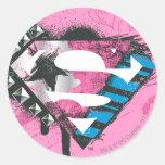 Logotipo de los corazones de Supergirl Etiquetas