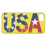 Logotipo de los E.E.U.U., caja amarilla del iPhone iPhone 5 Funda