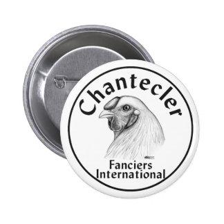 Logotipo de los Fanciers de Chantecler Pin Redondo De 2 Pulgadas