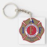logotipo de los firemans llavero