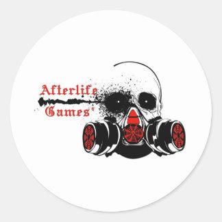 Logotipo de los juegos de la vida futura pegatina redonda