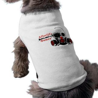 Logotipo de los juegos de la vida futura playera sin mangas para perro