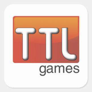 Logotipo de los juegos de TTL Pegatina Cuadrada