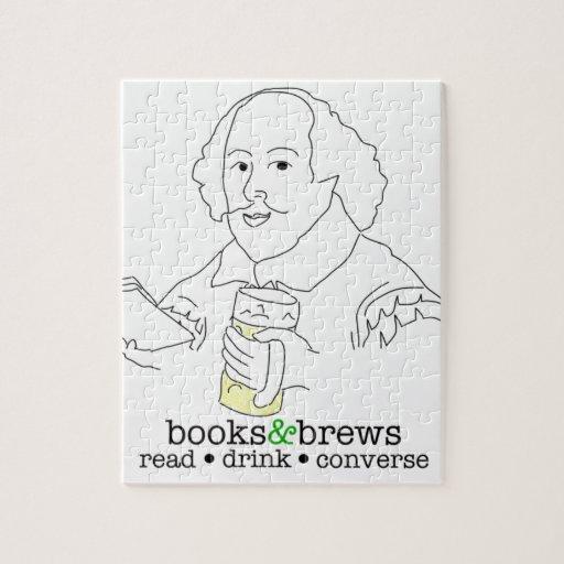 Logotipo de los libros y de los Brews Rompecabezas