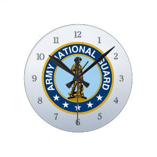 Logotipo de los militares del Guardia Nacional del Reloj Redondo Mediano