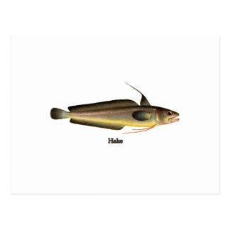 Logotipo de los pescados de la merluza postal