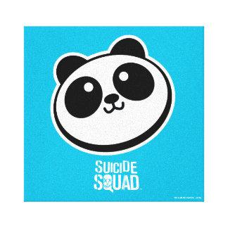 Logotipo de los proveedores de la panda del impresión en lienzo estirada
