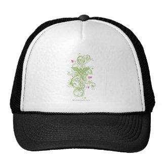 Logotipo de los remolinos del verde de la Mujer Ma Gorro