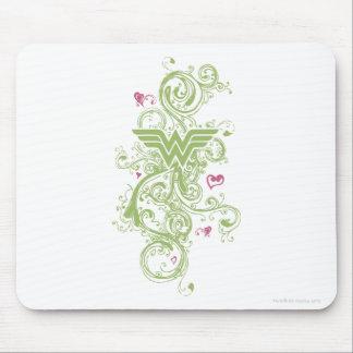 Logotipo de los remolinos del verde de la Mujer Ma Tapete De Raton