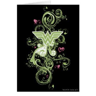 Logotipo de los remolinos del verde de la Mujer Ma Tarjetón
