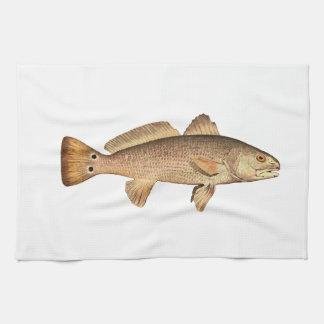 Logotipo de los salmones toalla de mano