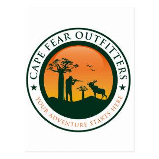 Logotipo de los vendedores de ropa confeccionada tarjeta postal