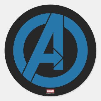 Logotipo de los vengadores pegatina redonda