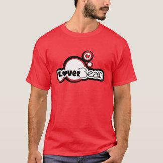 Logotipo de LoverBear--gráfico de la burbuja Playera