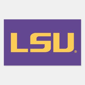 Logotipo de LSU Pegatina Rectangular